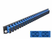 Delock 19″ Splice Box Front Panel 24 port SC Duplex blue