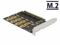 Delock PCI Express x16 Card to 4 x internal NVMe M.2 Key M - Bifurcation