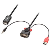 Lindy VGA & Audio with USB to HDMI Adapter Cable, Black, 2m