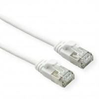 ROLINE U/FTP DataCenter Patch Cord Cat.6A, LSOH, slim, white, 0.5 m