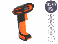 Delock Industrial Barcode Scanner 1D and 2D for 2.4 GHz, Bluetooth or USB