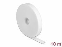 Delock Velcro tape on roll L 10 m x W 20 mm white