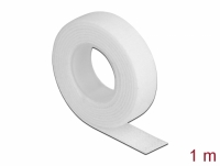 Delock Velcro tape on roll L 1 m x W 13 mm white