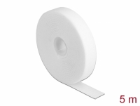 Delock Velcro tape on roll L 5 m x W 20 mm white