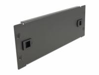 Delock 10″ Network Cabinet Blind Cover tool free 2U black
