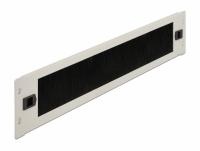 Delock 19″ Cable Management Brush Strip tool free 2U grey