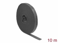 Delock Velcro tape on roll L 10 m x W 15 mm grey
