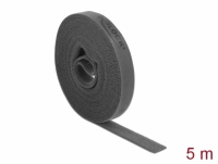 Delock Velcro tape on roll L 5 m x W 15 mm grey