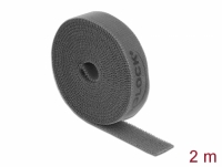 Delock Velcro tape on roll L 2 m x W 15 mm grey