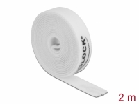 Delock Velcro tape on roll L 2 m x W 15 mm white
