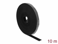Delock Velcro tape on roll L 10 m x W 15 mm black