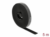 Delock Velcro tape on roll L 5 m x W 15 mm black