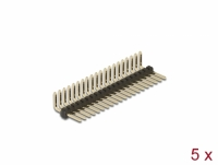 Delock Pin header 20 pin, pitch 1.27 mm, 1-row, angled, 5 pieces