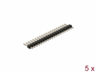 Delock Pin header 20 pin, pitch 2.54 mm, 1-row, straight, 5 pieces