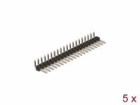 Delock Pin header 20 pin, pitch 2.54 mm, 1-row, angled, 5 pieces