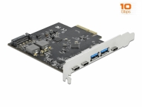 Delock PCI Express x4 Card to 3 x USB Type-C™ + 2 x USB Type-A - SuperSpeed USB 10 Gbps