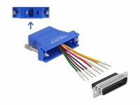 Delock Adapter D-Sub 25 pin male to RJ45 female Assembly Kit blue