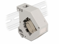 Delock DIN rail Adapter with Keystone Module RJ45 jack Cat.6A LSA