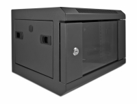 Delock 10″ Network Cabinet with glass door 4U black
