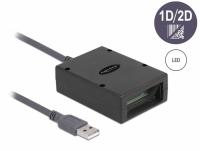 Delock USB Barcode Scanner 2D for permanent installation - German Version