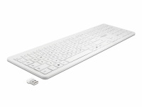 Delock USB Keyboard 2.4 GHz wireless white (flat)