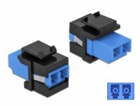 Delock Keystone Module LC Duplex female to LC Duplex female blue / black