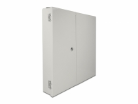 Delock Fiber optic wall distribution box with double door grey