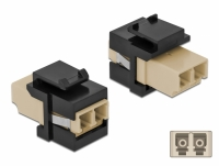 Delock Keystone Module LC Duplex female to LC Duplex female beige / black