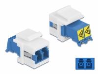 Delock Keystone Module LC Duplex female to LC Duplex female with laser protection flip inside