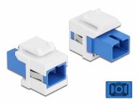 Delock Keystone Module SC Simplex female to SC Simplex female blue / white