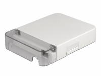 Delock Optical Fiber Connection Box for wall mounting for 1 x SC Simplex or LC Duplex white