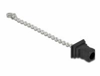 Delock Fiber optic dust cap with chain for SC plug black