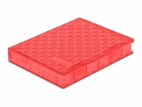 Delock Protection Box for 2.5″ HDD / SSD red