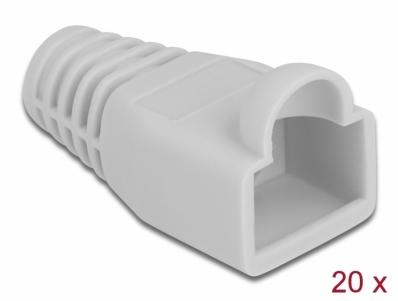 Delock Strain relief for RJ45 plug grey 20 pieces