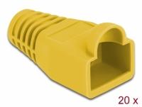 Delock Strain relief for RJ45 plug yellow 20 pieces