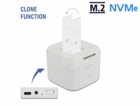 Delock M.2 Docking Station for 2 x M.2 NVMe PCIe SSD with Clone function