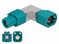 Delock Adapter HSD Z female to HSD Z male angled