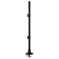Desk Clamp Pole and Cable Grommet, Black, 700mm