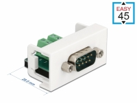 Delock Easy 45 Module D-Sub 9 pin male to 10 pin Terminal Block 22.5 x 45 mm