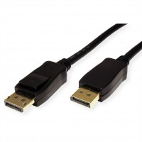 VALUE DisplayPort Cable, v1.4, DP-DP, M/M, black, 1.5 m