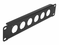 Delock 10″ D-Type Patch Panel 6 Port black