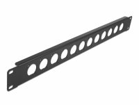 Delock 19″ D-Type Patch Panel 12 Port black