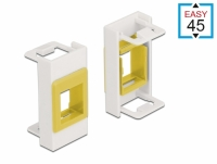 Delock Easy 45 Module Keystone Holder 22.5 x 45 mm, white / yellow