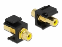 Delock Keystone Module RCA female > RCA female gold plated yellow / black