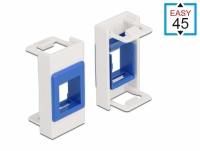 Delock Easy 45 Module Keystone Holder 22.5 x 45 mm, white / blue