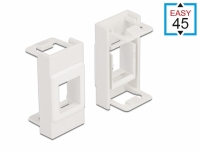 Delock Easy 45 Module Keystone Holder 22.5 x 45 mm, white