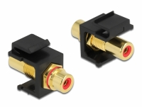 Delock Keystone Module RCA female > RCA female gold plated red / black