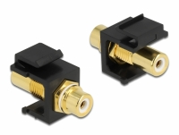Delock Keystone Module RCA female > RCA female gold plated white / black