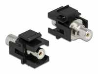 Delock Keystone Module RCA female > RCA female white / black