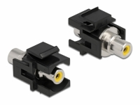 Delock Keystone Module RCA female > RCA female yellow / black